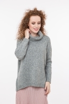 Soft pullover with lurex grey