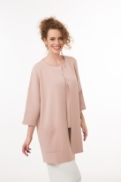 Round neck cardigan with 3/4 sleeves  rose