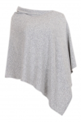 Lady poncho with cashmere touch