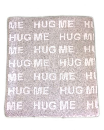 Knit blanket HUG ME