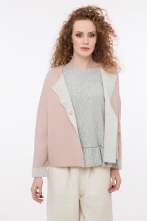 Short cardigan two colors
