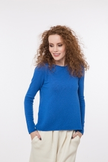 Fine knitted jumper with cashmere round neck different colors