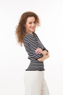 Ribbed top in stripes