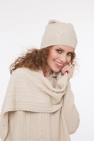 Cable knit scarf  with cashmere different colors