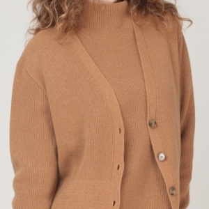 Lady ribbed cardigan TINA
